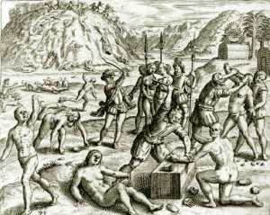 Christopher_Columbus'_Soldiers_Chop_the_Hands_off_of_Arawak_Indians_who_Failed_to_Meet_the_Mining_Quota